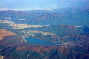 空から山中湖の写真素材 [FYI04792475]