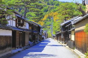 近江八幡の新町通りの町並の写真素材 [FYI04792577]