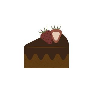 チョコレートケーキ イラストのイラスト素材 [FYI04792756]