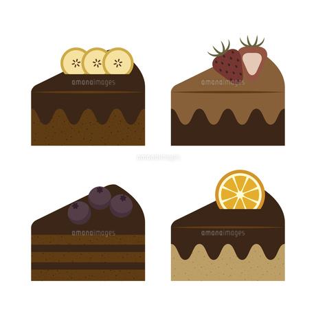 チョコレートケーキ セット イラストのイラスト素材 [FYI04792758]