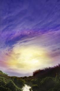 郊外の夜明けの写真素材 [FYI04792854]