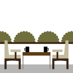 カフェ 窓 テーブル席 イラストのイラスト素材 [FYI04793362]