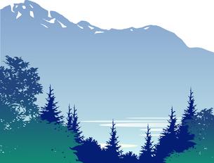山の背景のイラスト素材 [FYI04793496]