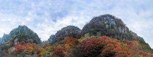 深耶馬渓~一目八景の紅葉(パノラマ)の写真素材 [FYI04794032]