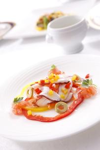 コース料理 蛸の前菜の写真素材 [FYI04794092]