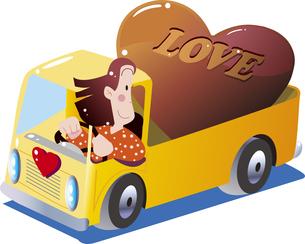 バレンタインデー大きなハートのチョコのイラスト素材 [FYI04794298]