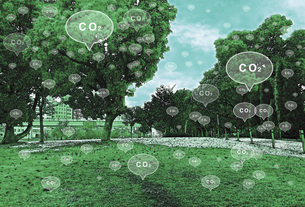 二酸化炭素排出のイラスト素材 [FYI04794764]