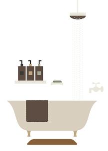 バスルームとシャワー イラストのイラスト素材 [FYI04794844]