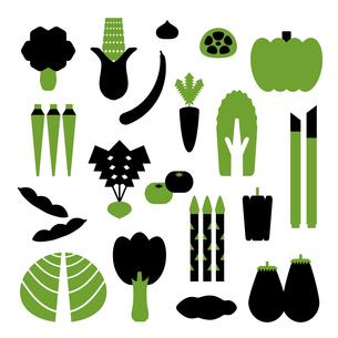 シンプルなカタチの野菜のイラストのイラスト素材 [FYI04795311]