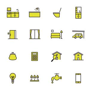 シンプルアイコンセット:住まいのリフォームAのイラスト素材 [FYI04795325]