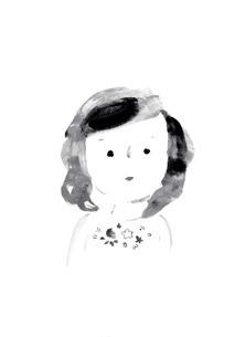 微笑む女の子のイラスト素材 [FYI04795654]