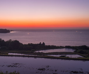 山口県 風景 日本海夕景 の写真素材 [FYI04795734]