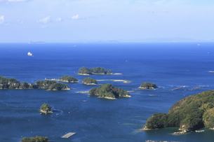 展海峰からの九十九島の景色の写真素材 [FYI04795798]