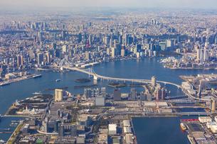 上空から見る東京ウォータフロントの写真素材 [FYI04795808]