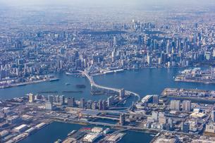 上空から見る東京ウォータフロントの写真素材 [FYI04795809]