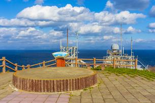 龍飛崎から望む津軽海峡と北海道の写真素材 [FYI04795816]