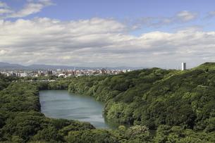 水と緑の仁徳天皇陵古墳。の写真素材 [FYI04795885]