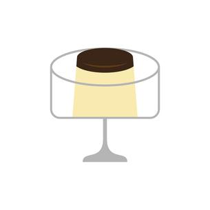 プリンとデザートカップのイラスト素材 [FYI04796102]