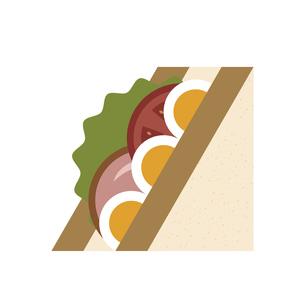 卵とトマトとハムのサンドイッチのイラスト素材 [FYI04796103]