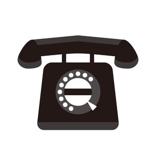 昔ながらの黒電話のイラスト素材 [FYI04796135]