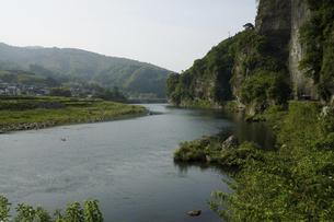 山国川と青の洞門の写真素材 [FYI04796506]
