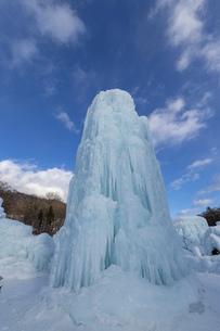 北海道冬の風景 支笏湖の氷濤まつりの写真素材 [FYI04796831]