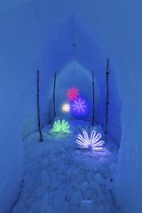 北海道冬の風景 支笏湖の氷濤まつりの写真素材 [FYI04796845]