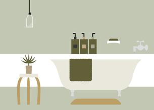 バスルーム バスタブ スツール イラストのイラスト素材 [FYI04797332]