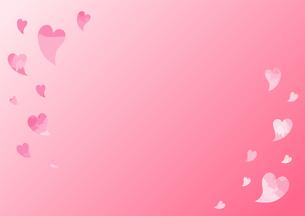 ハートをあしらったピンク色の背景画像のイラスト素材 [FYI04797512]