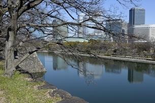 大阪城公園,東外濠と大阪ビジネスパークの写真素材 [FYI04797588]
