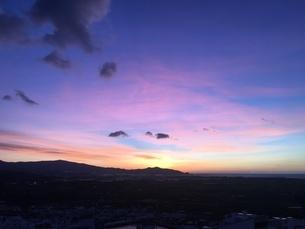 スペインの朝焼けの写真素材 [FYI04797856]