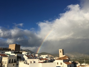 アンダルシアの虹の写真素材 [FYI04797858]