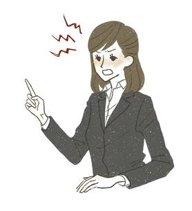 怒っているスーツ姿の女性のイラスト素材 [FYI04797986]