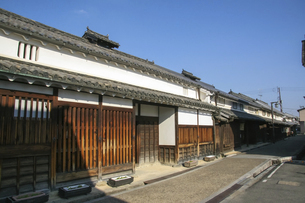 奈良橿原・今井町に残る古い木造家屋の写真素材 [FYI04798424]