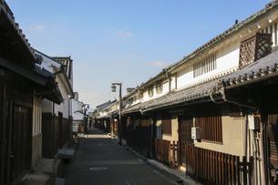 奈良・今井町に残る昔の古い町並みの写真素材 [FYI04798428]