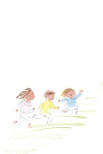 かけっこをする子供たちのイラスト素材 [FYI04798760]