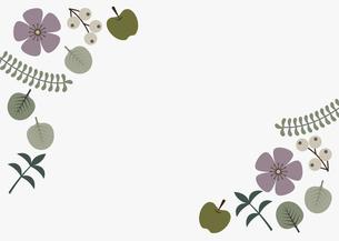 紫の花フレームイラストのイラスト素材 [FYI04798762]