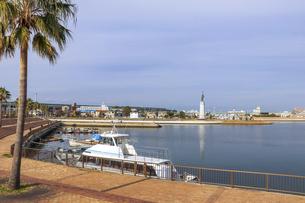 大阪・堺旧港の風景の写真素材 [FYI04798958]