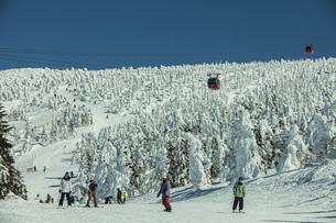 冬の蔵王の写真素材 [FYI04799108]
