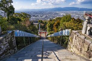 福岡県 高良大社より久留米市街を望むの写真素材 [FYI04799114]