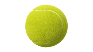 Tennis ball on white background.のイラスト素材 [FYI04799230]