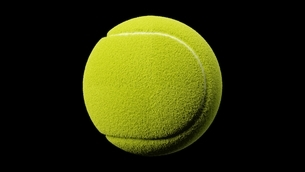 Tennis ball on black background.のイラスト素材 [FYI04799231]