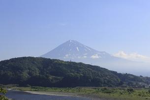富士川と富士山の写真素材 [FYI04799516]