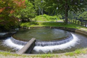 通潤用水の円形分水工の写真素材 [FYI04799777]