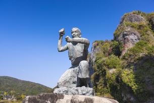 本耶馬渓 禅海和尚の像の写真素材 [FYI04799794]