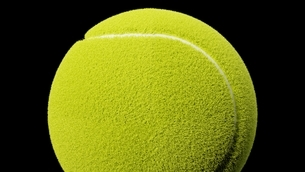 Tennis ball on black background.のイラスト素材 [FYI04799852]