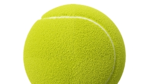 Tennis ball on white background.のイラスト素材 [FYI04799853]