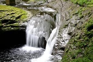 赤目四十八滝,渓谷と陰陽滝の写真素材 [FYI04799911]