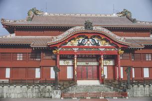 沖縄の世界遺産、首里城の写真の写真素材 [FYI04800180]