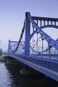 清洲橋夕景の写真素材 [FYI04800192]